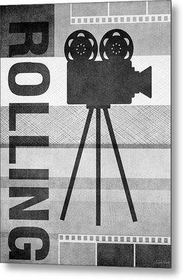 Cameras Rolling- Art By Linda Woods Metal Print by Linda Woods