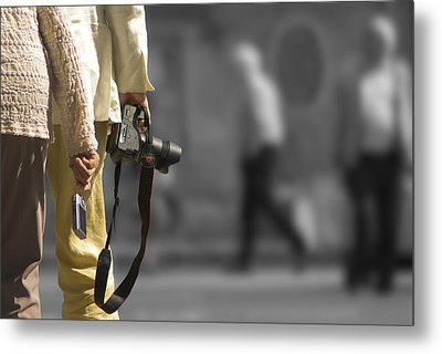 Cameras Unholstered Metal Print by Hazy Apple