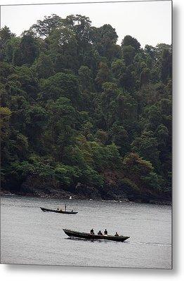 Cameroon Fisherman Africa Metal Print