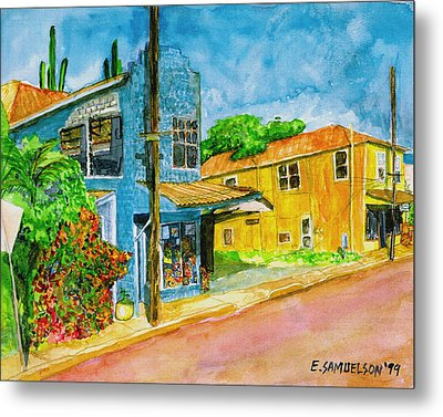 Metal Print featuring the painting Camilles Place by Eric Samuelson