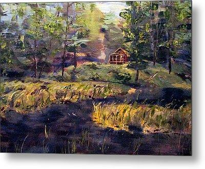 Camp At Efner Lake Brook Metal Print by Denny Morreale