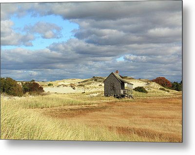 Metal Print featuring the photograph Camp On The Marsh And Dunes by Roupen  Baker