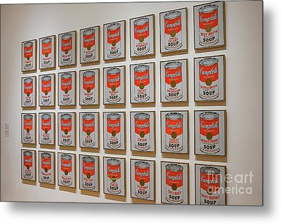 Metal Print featuring the photograph Campbell Soup By Warhol by Patricia Hofmeester