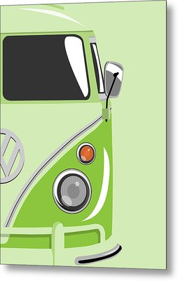 Camper Green 2 Metal Print by Michael Tompsett