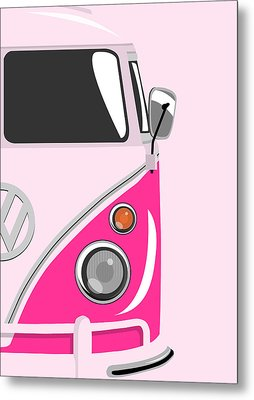 Camper Pink 2 Metal Print by Michael Tompsett