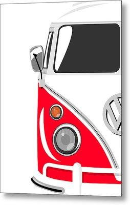 Camper Red Metal Print by Michael Tompsett