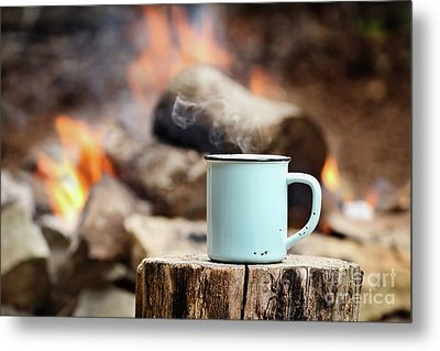 Metal Print featuring the photograph Campfire Coffee by Stephanie Frey