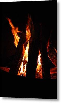 Campfire Metal Print by Kimberly Camacho
