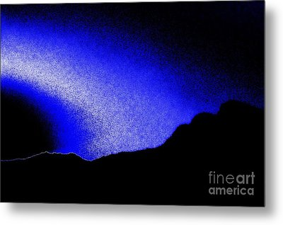 Camping Blues Metal Print