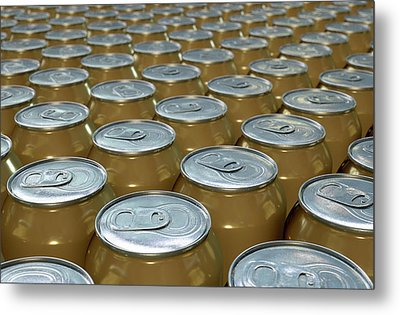 Can Production Line Metal Print by Allan Swart