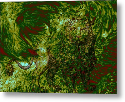 Can You See Me Metal Print by Evelyn Patrick