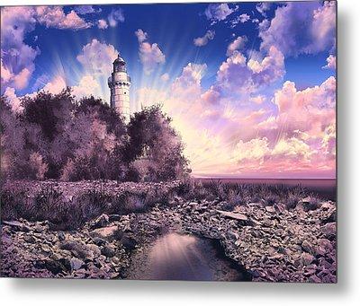 Cana Island Lighthouse Metal Print by Bekim Art