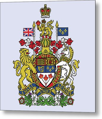 Canada Coat Of Arms Metal Print by Movie Poster Prints
