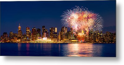Canada Day 2015 In Vancouver Metal Print by Alexis Birkill