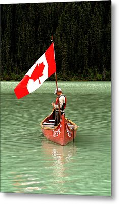Metal Print featuring the photograph Canada Day... by Al Fritz