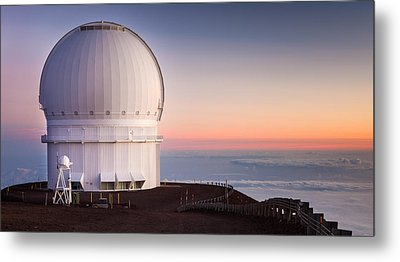 Canada-france-hawaii Telescope Metal Print by Thorsten Scheuermann