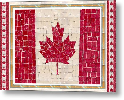 Canada Golory Decorations  Proud Canadian Flag  Artistic Version Sizes Colors And Image   Metal Print