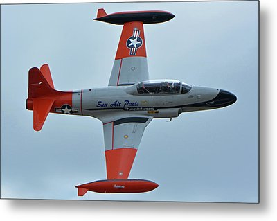 Canadair Ct-133 Silver Star Nx377jp Pacemaker Chino California April 30 2016 Metal Print by Brian Lockett