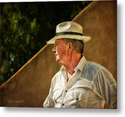 Canadian Artist In Provence Metal Print by CR  Courson