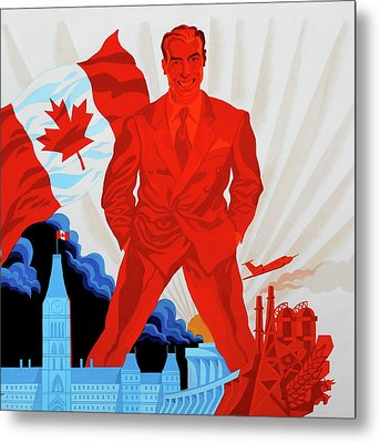 Canadian Liberal Politics Metal Print by Leon Zernitsky
