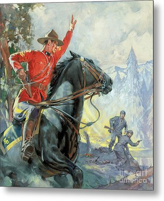 Canadian Mounties Metal Print by James Edwin McConnell