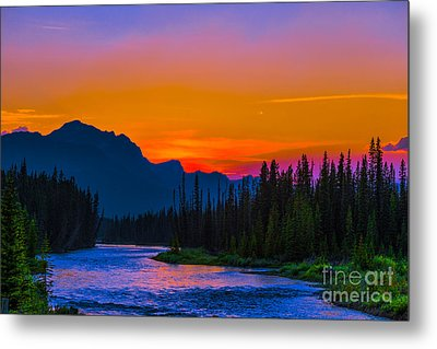 Canadian Rocky Sunset Metal Print by John Roberts