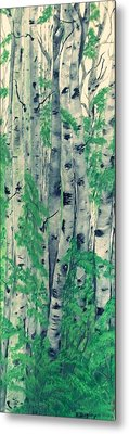 Metal Print featuring the painting Canadian White  Poplar by Sharon Duguay