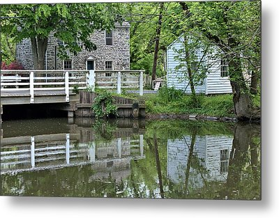 Canal At Griggstown Metal Print