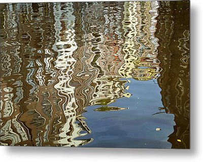 Canal House Reflections Metal Print by Joan Carroll