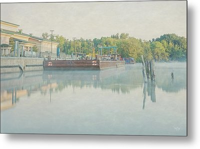 Metal Print featuring the photograph Canal In Pastels by Everet Regal