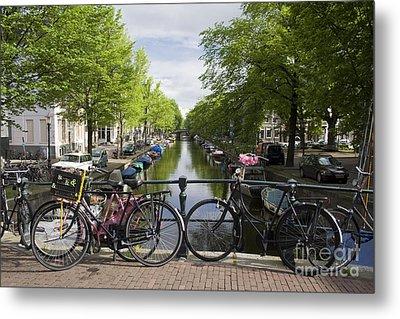 Canal Of Amsterdam Metal Print by Joshua Francia