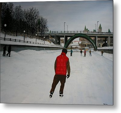Canal Skate Metal Print by Betty-Anne McDonald