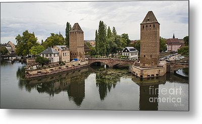 Canals And Medieval Towers Of Strasbourg Metal Print