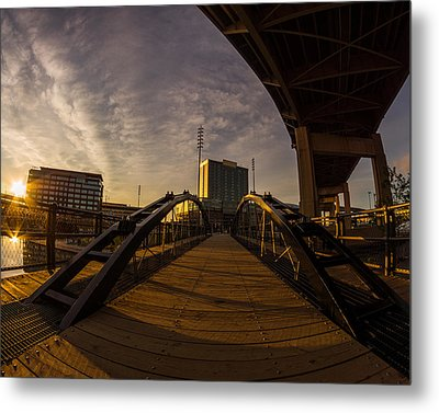 Metal Print featuring the photograph Canalside Dawn No 5 by Chris Bordeleau