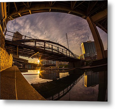 Metal Print featuring the photograph Canalside Dawn No 6 by Chris Bordeleau