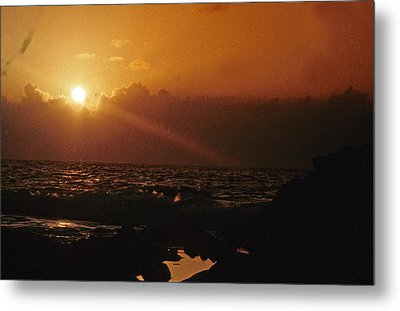 Canary Islands Sunset Metal Print by Gary Wonning