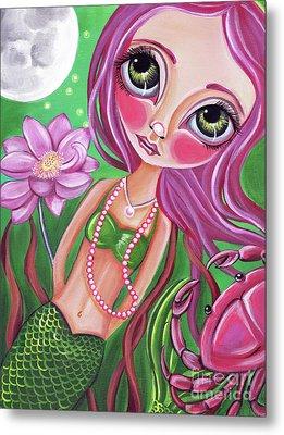 Cancer - Zodiac Mermaid Metal Print by Jaz Higgins