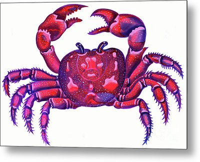 Cancer The Crab Metal Print by Jane Tattersfield