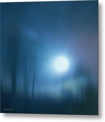 Cancerian Moon Metal Print by Nita Sweeney