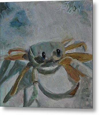 Cancer's Are Not Crabby Metal Print by Billie Colson