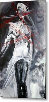 Metal Print featuring the painting Candle In The Wind by Jarmo Korhonen aka Jarko