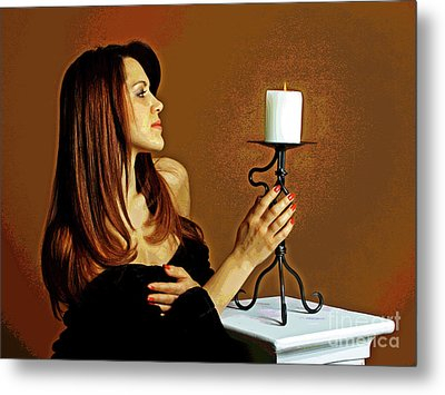 Candle Lights  Metal Print by Larry Oskin