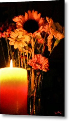 Candle Lit Metal Print by Kristin Elmquist
