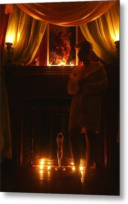 Candlelight Glow Metal Print by Scarlett Royal