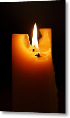 Candlelight Metal Print by Rona Black