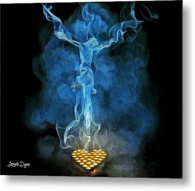 Candles - Da Metal Print