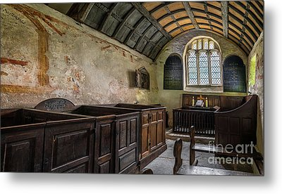 Candles In Old Church Metal Print by Adrian Evans