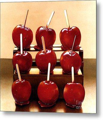 Candy Apples Metal Print