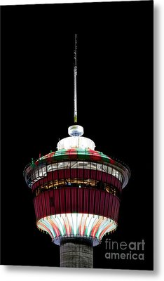 Metal Print featuring the photograph Candy Cane Tower by Brad Allen Fine Art