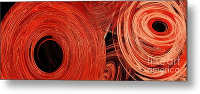 Metal Print featuring the digital art Candy Chaos 1 Abstract by Andee Design